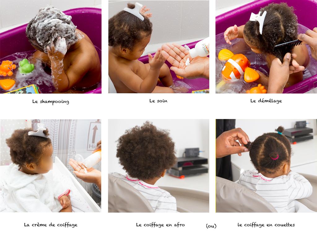 rituel de soins pour cheveux crépus